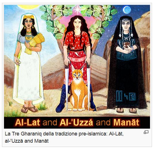 La Tre Gharaniq della tradizione pre-islamica: Al-Lāt, al-'Uzzā and Manāt